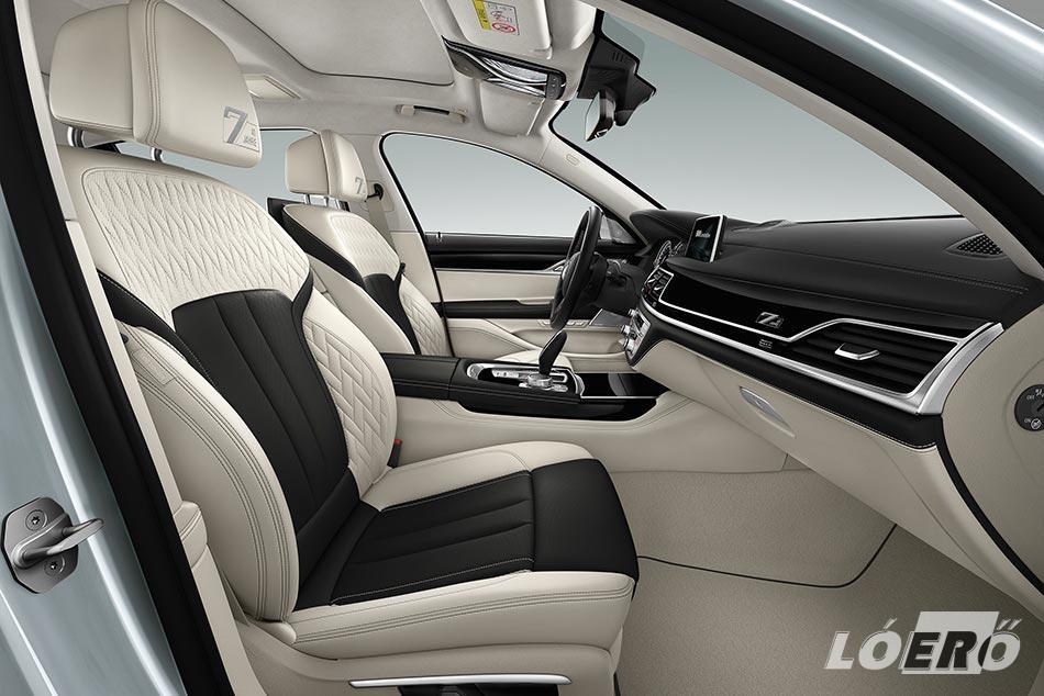 A BMW 7 sorozat különkiadása az első és a hátsó üléssorban is komfortüléseket kap.