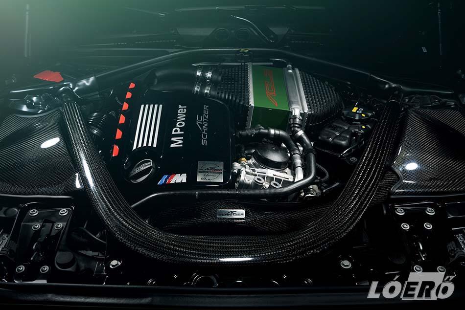 A BMW AC Schnitzer ACL2 3,0 literes, soros hathengeres turbómotorjából 370 lóerőt és 465, rövid túltöltéssel 500 Nm nyomatékot hoztak ki.
