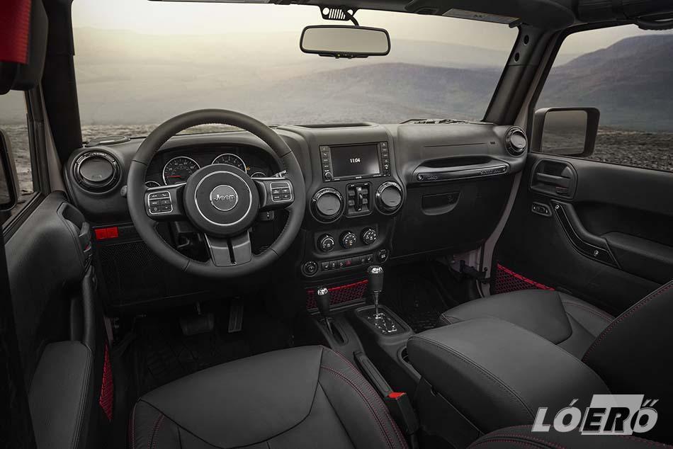 A Jeep Wrangler Rubicon Recon fedélzeti kényelmét és a szórakoztatást az Alpine prémium audiorendszerre bízták.