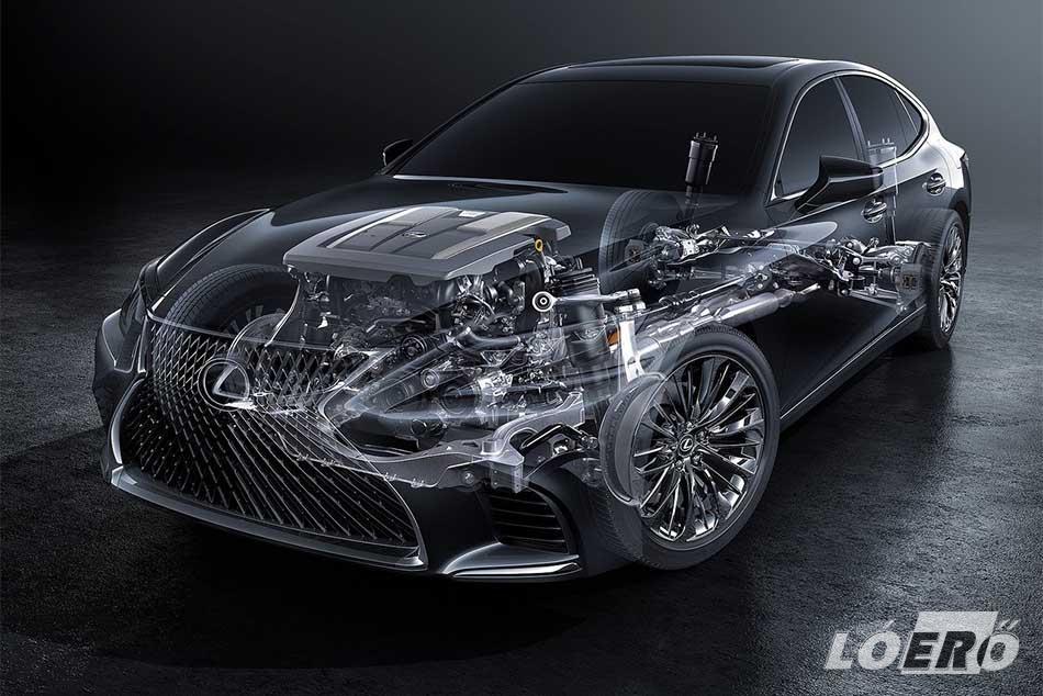 A Lexus LS 2017-ben kapott elsőként 10 fokozatú automata sebességváltót, ami már szintén ismerős lehet az LC 500 kupéból.