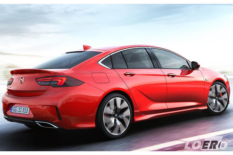 Az Opel Insignia GSi kiadásának rövidebb rugói mintegy 10 milliméterrel ültették lejjebb a karosszériát.