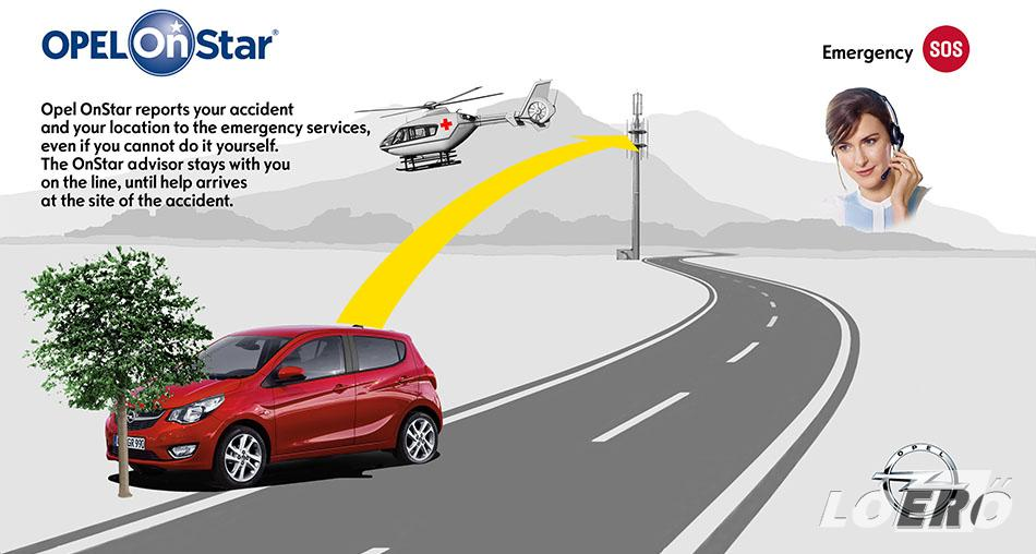 Eltulajdonított gépkocsi esetén az Opel OnStar rendszere a tulajdonost és a rendőrséget is egyaránt segíti az autó pillanatnyi helyének bemérésével.