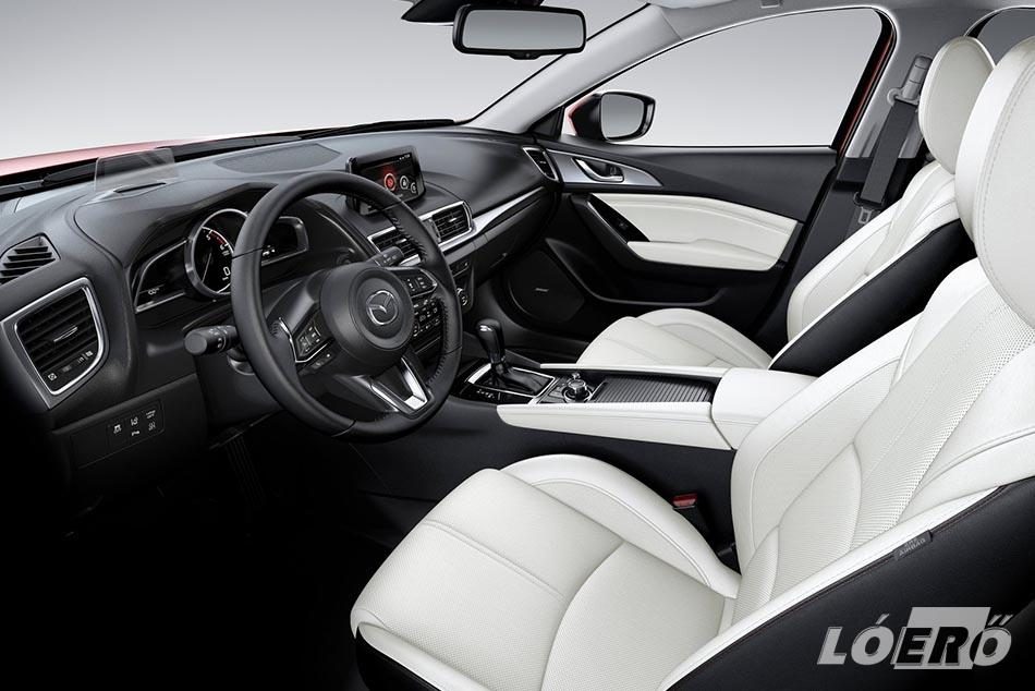 A Mazda3 2017-ben a G-vectoring szabályozással is növeli a kényelem érzetet, és csökkenti a karosszéria kilengéseit.