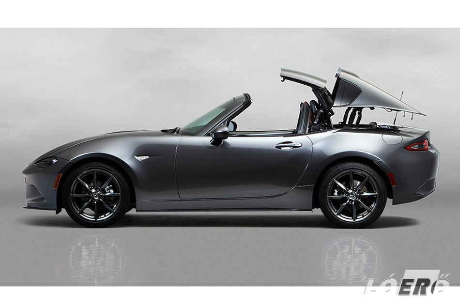 A Mazda MX5 RF elnevezésében szereplő RF rövidítés a tető kialakítást jelzi. Retractable Fastback, azaz lenyitható keménytetős.