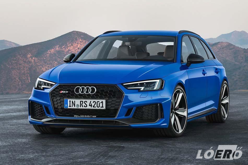 Jövő év elejétől már átvehető az Audi RS4 Avant 450 lóerős negyedik generációs kiadása.
