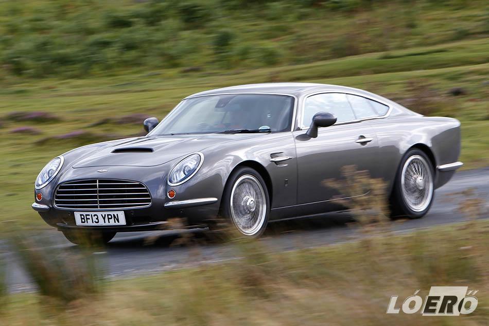 A Speedback GT Jaguar alapokra pakolt, Aston Martint idéző dizájnját jelenleg 200 millió körül mérik.
