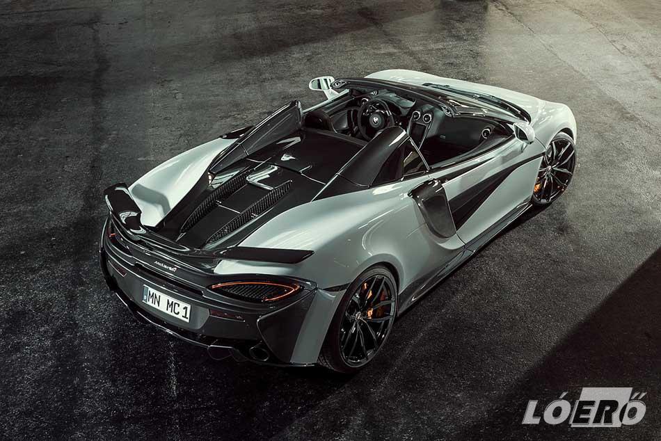 A belépő Sport Series-t az 540 és 570 jelű típusok alkotják, és itt az erősebb, valamint nyitható tetős McLaren 570S Spider-t vette kezelésbe a Novitec.