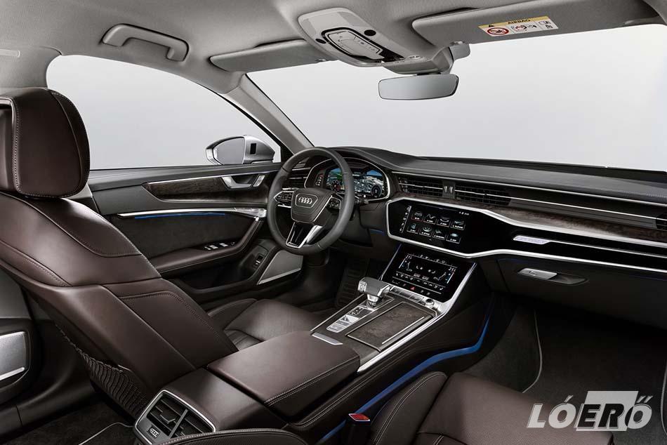 Az utastér már teljes egészében a digitális kezelés jegyében született, és az új Audi A6 MMI touch response rendszere rendkívül gyors adatbevitelt tesz lehetővé.