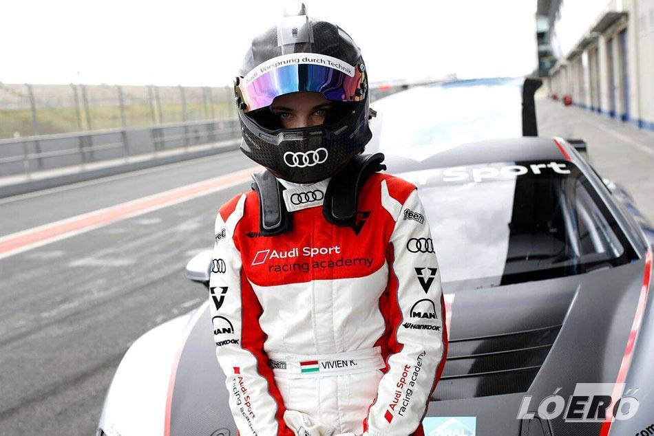 Keszthelyi Vivien a világ legfiatalabb GT-kategóriás női autóversenyzőjeként indul az Audi R8 LMS Cupban.