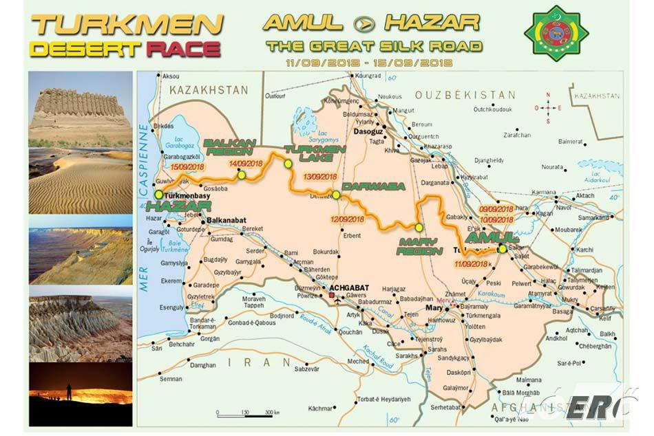 A Türkmén Desert Race, azaz a Türkmén rali útvonala ma még minden versenyző számára egy szűz terület, annak minden szépségével és küzdelmeivel.