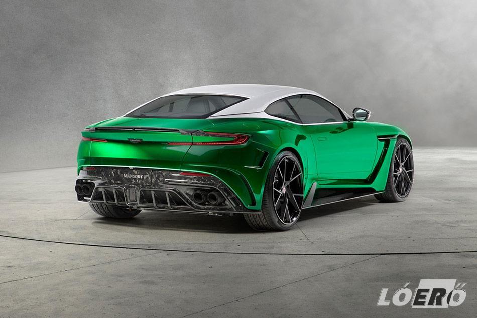Az Aston Martin DB11-re pakolt drága, szénszálas műanyagból készült alkatrészeknek, a hivatalos verzió szerint olyan hatást sikerült kelteniük mintha átlátszók lennének, de valójában inkább márványnak hatnak.