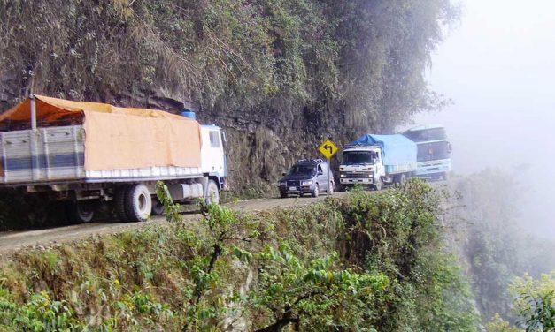 A bolíviai halálút, a világ legveszélyesebb útja