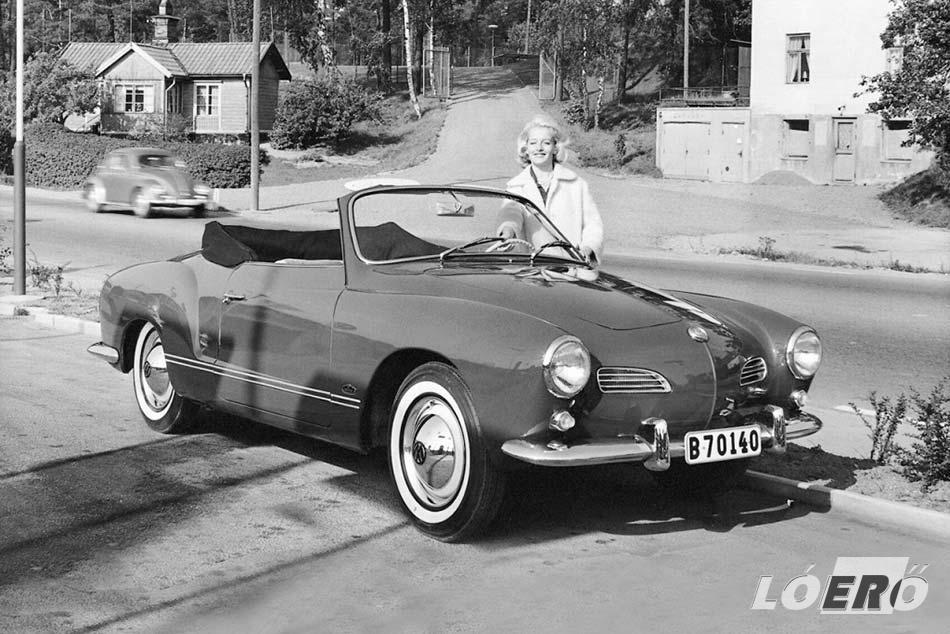 A Volkswagen Karmann Ghia cabrio változata szintén szerethető vonalakat kapott, így már megjelenésekor borítékolható volt a további siker.