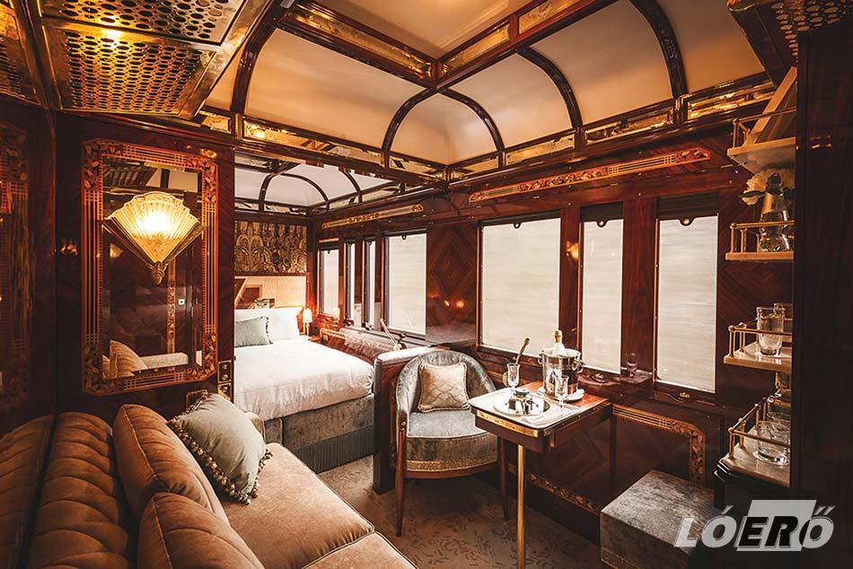 A hálókocsi az Orient Express utazás során gyakorlatilag szállodai kényelmet nyújtott minden utasának.