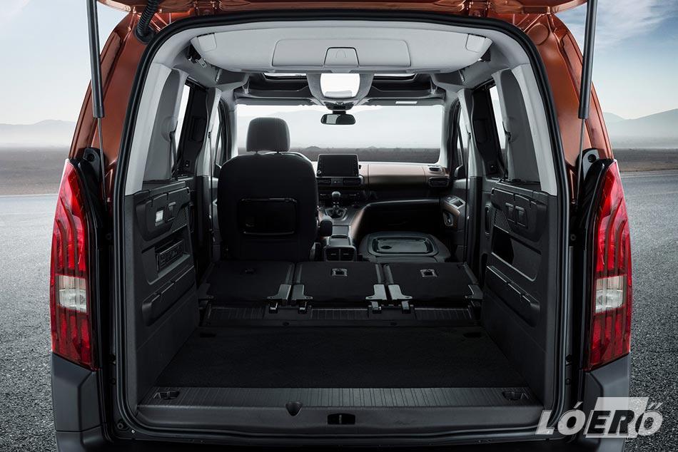 És a lényeg, a Peugeot Rifter méretek, és sokoldalú variálhatóság.