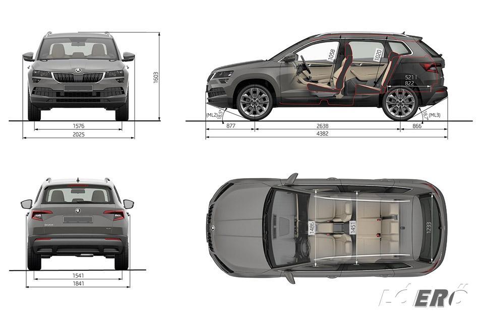 A Skoda Karoq méretek, ideális családi autóvá teszik a csehek sportos szabadidő autóját.