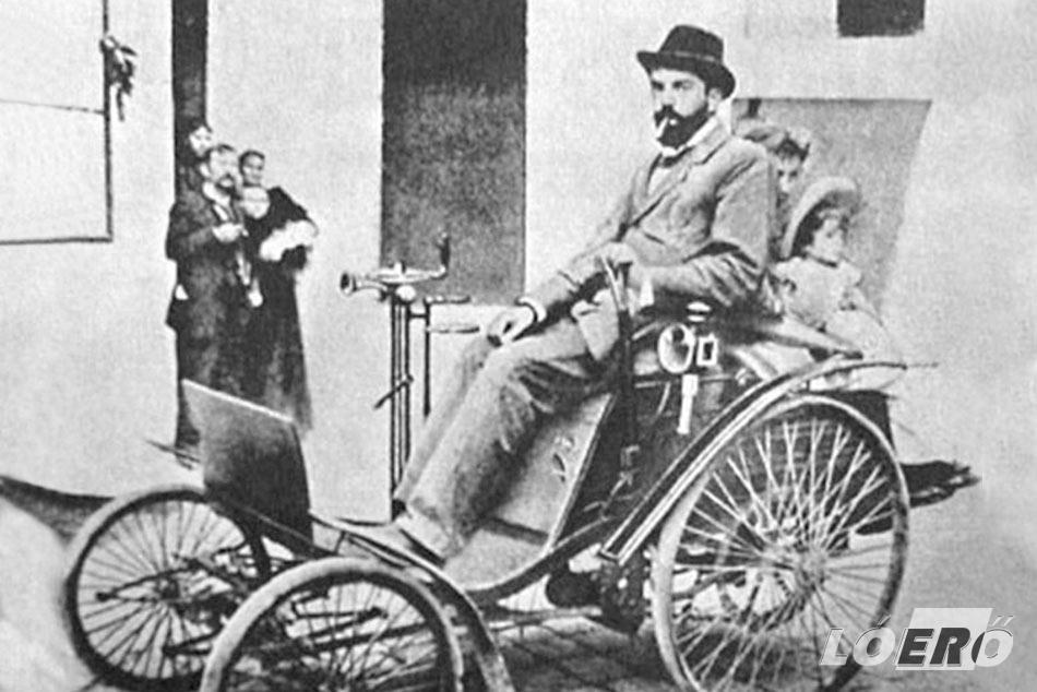 Hatsek Béla és az első autó Magyarországon, a 1.5 lóerős Benz Velo.