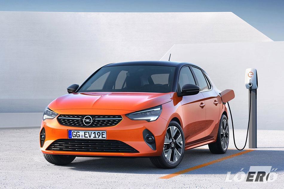 Az elektromos Opel Corsa akkumulátorának körülbelül 30 perc szükséges gyorstöltéssel a 80 százalékhoz.