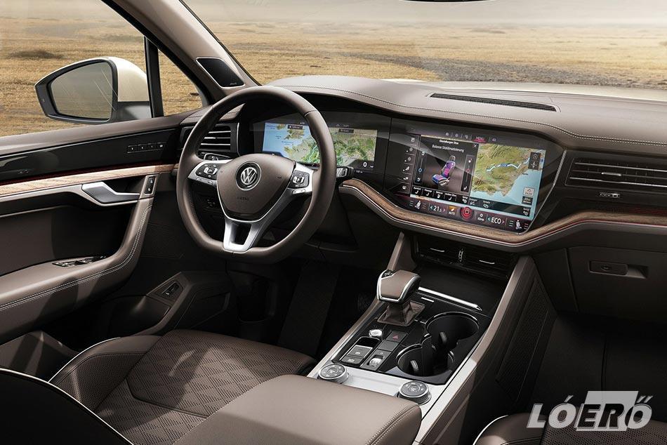A Volkswagen Touareg 3.0 V6 TDI teszt során próbált modellben főúri a kényelem, és remek a digitális technológia.