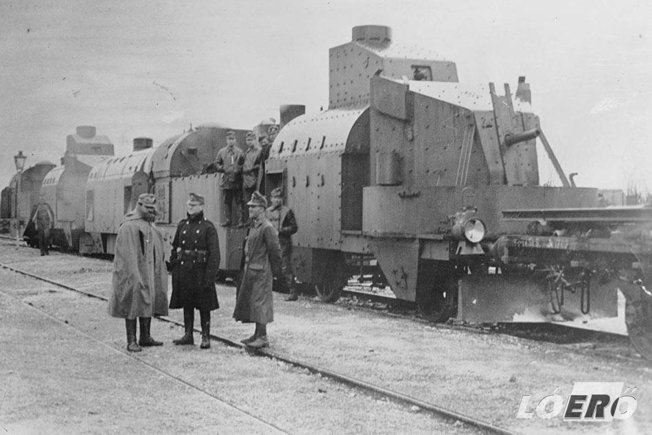 Egy MÁVAG gyártmányú nehézpáncélvonat az I. világháború idejéből