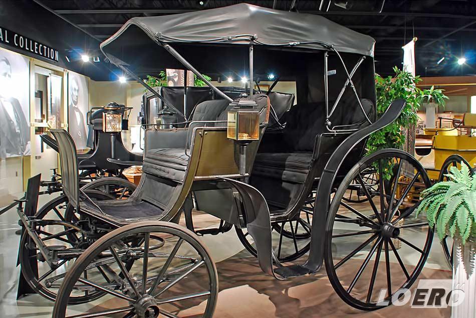 Ahonnan a Studebaker Avanti indult, a híres lovaskocsi, melyek beszerzését 1889-ben maga az elnök, Benjamin Harrison rendelte el.