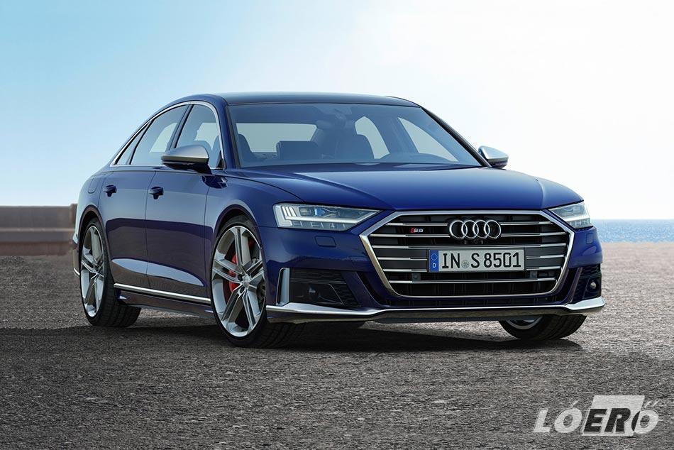 A quattro összkerékhajtás természetesen már alapból jár az új Audi S8-hoz, ugyanúgy, mint az aktív futóműtechnika.