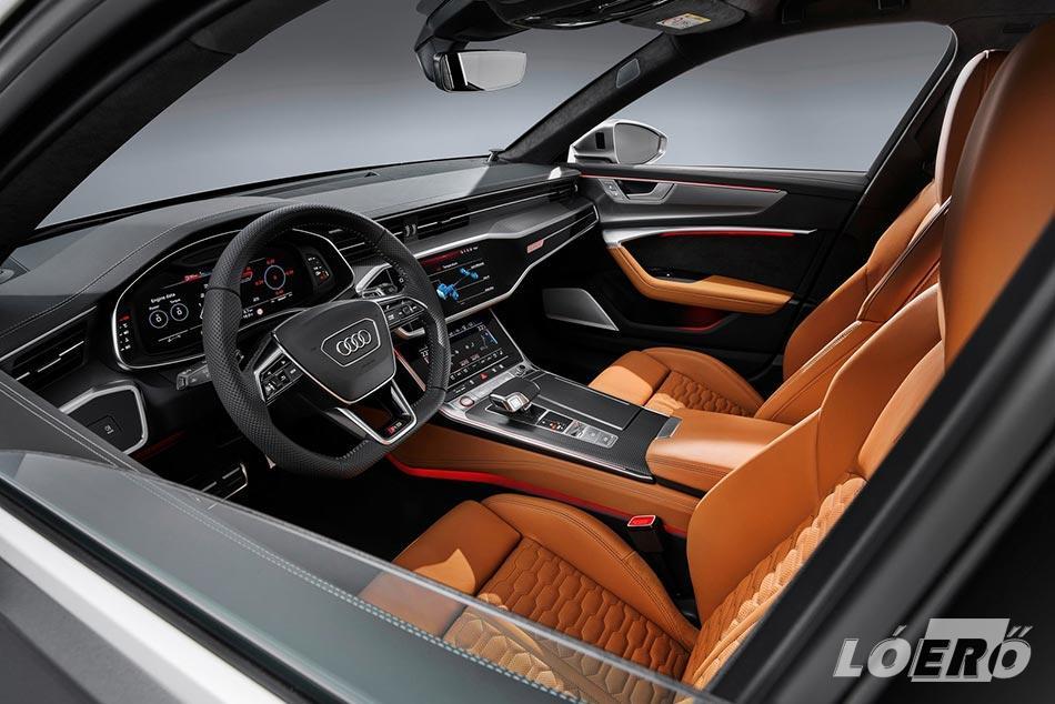 Az Audi RS6 Avant utastere, ahogy azt már megszokhattuk, most hibátlan.