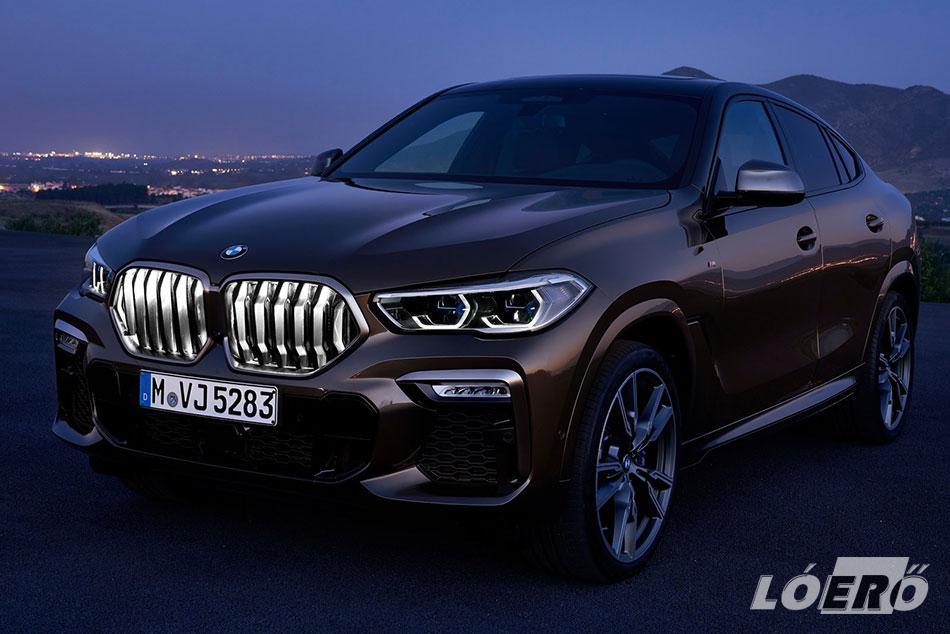 És íme a BMW X6 2019-es csábító bűbájpora, a világító hűtőrács…