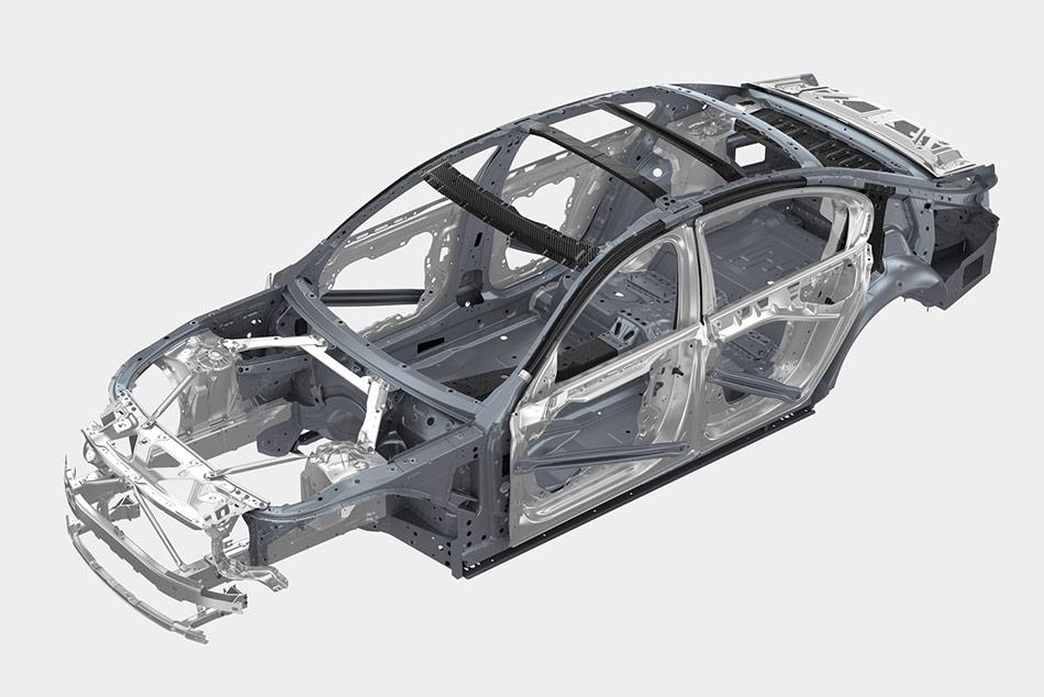 A gyártók csak több évig tartó fejlesztés és számos töréspróba után építenek be statikailag meghatározó új elemeket a karosszériavázba.