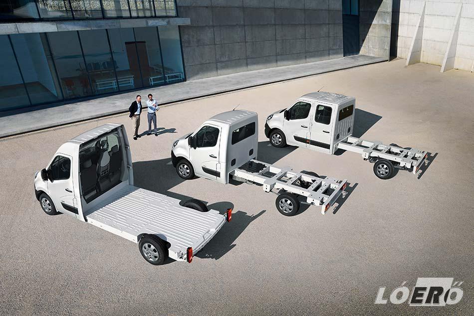 Az Opel Movano műszaki megoldásai a hagyományos, duplafülkés és sima padlóvázas változatban egyaránt rendelkezésünkre állnak.