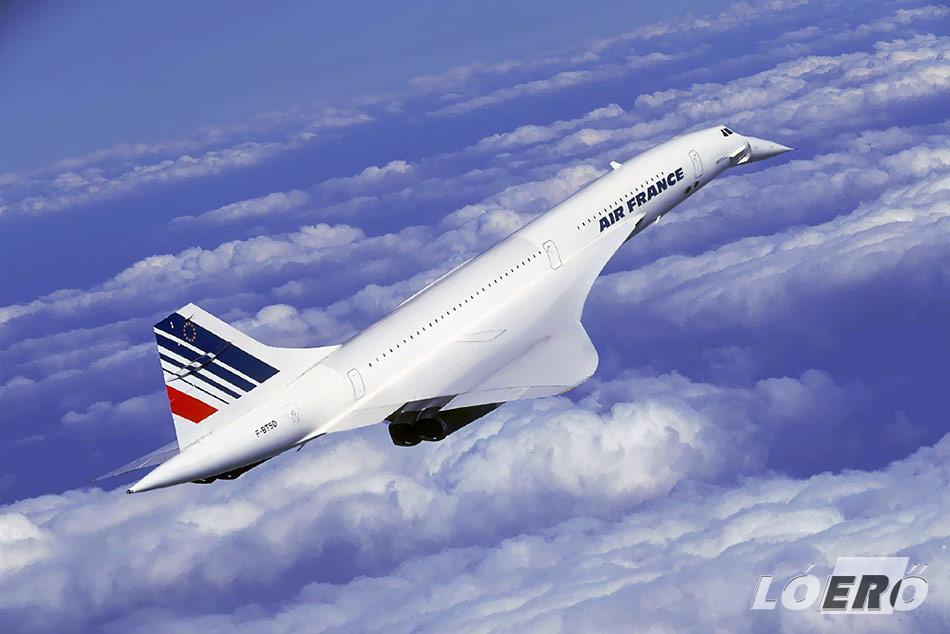 A francia és brit együttműködés eredménye: A Concorde repülő, a világ mindeddig leggyorsabb utasszállítója.