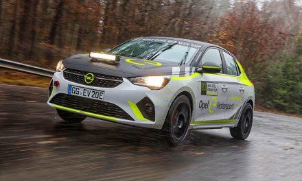 Célegyenesben az első elektromos rally autó, az Opel Corsa-e Rally