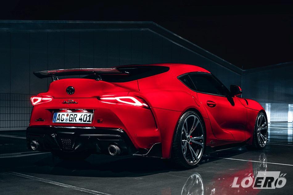 A GR Supra már alapból is sportos külsővel rendelkezik, de a Schnitzer műhelyének ezt sikerült ízlésesen még tovább fokozni.