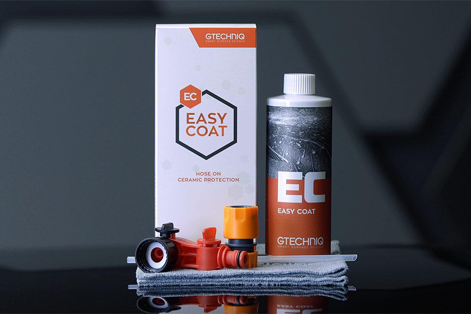 Gtechniq Easy Coat termékcsalád az otthoni autóápoláshoz.