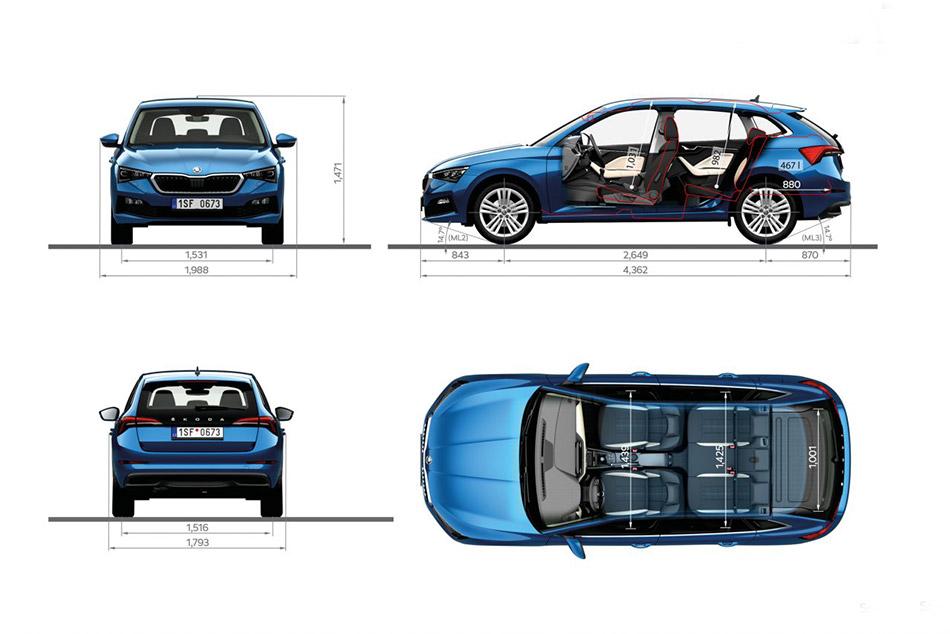 Erőssége lehet az autónak, hogy a Skoda Scala méretek egészen jól el lettek találva, négy felnőttnek tökéletes a helykínálat, de öten se nyomjuk ki az oldalát.